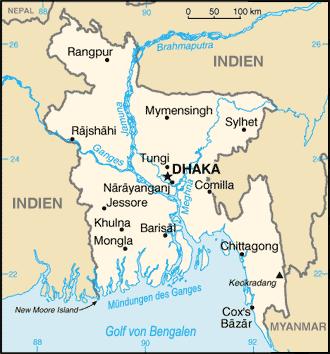 Carte du Bangladesch