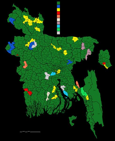 carte Bangladesch
