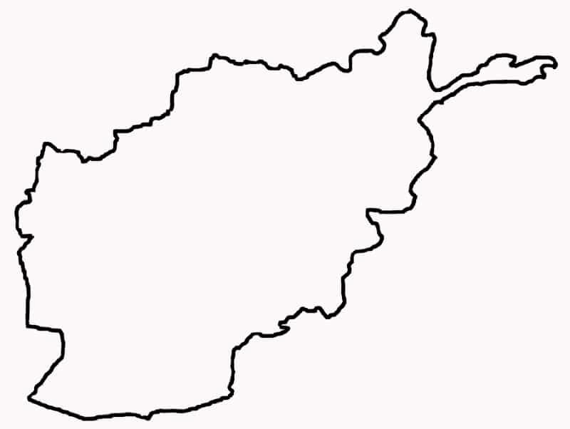 carte vierge afghanistan