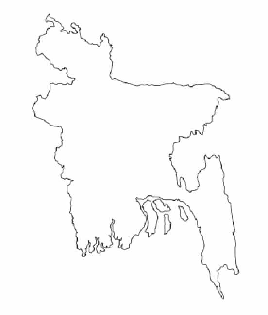 Carte vierge bangladesh