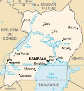 Carte Ouganda