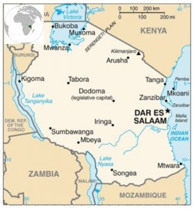 Carte Tanzanie
