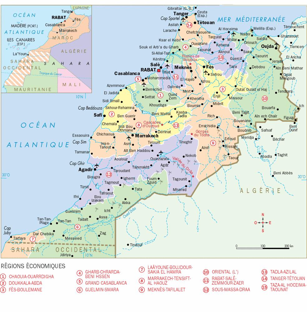 Carte Maroc