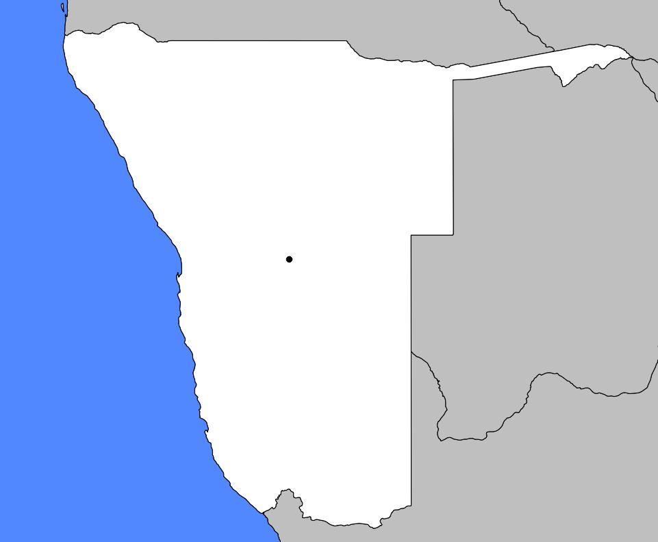 Carte vierge Namibie