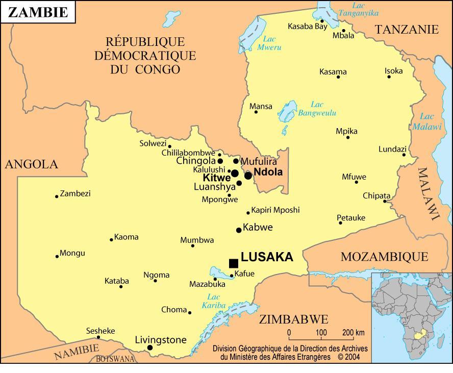 Zambie carte
