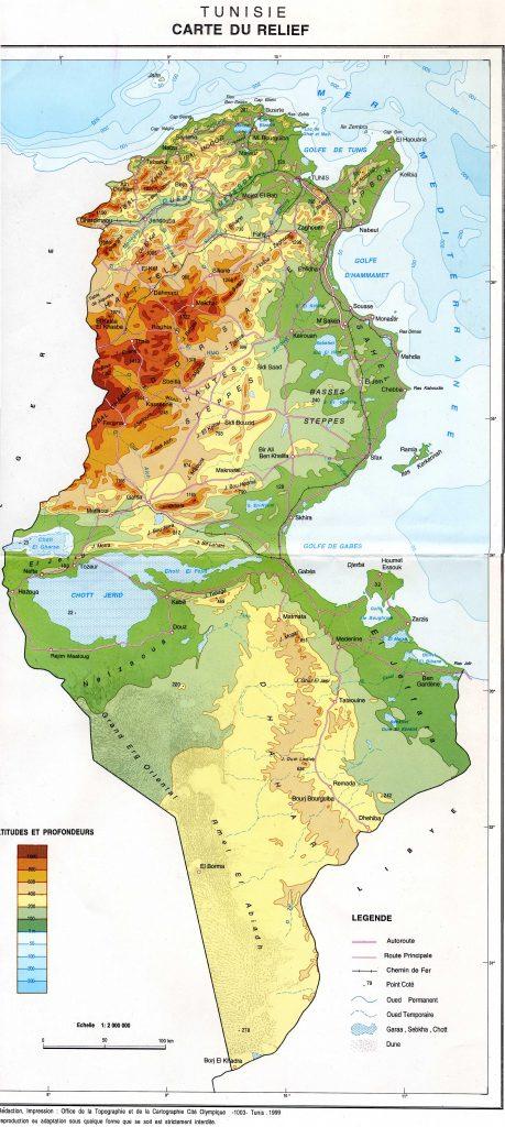 Carte Tunisie