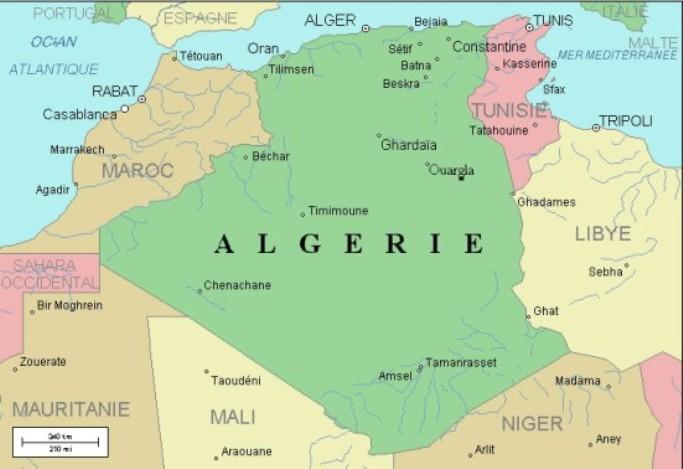 carte algerie riviere