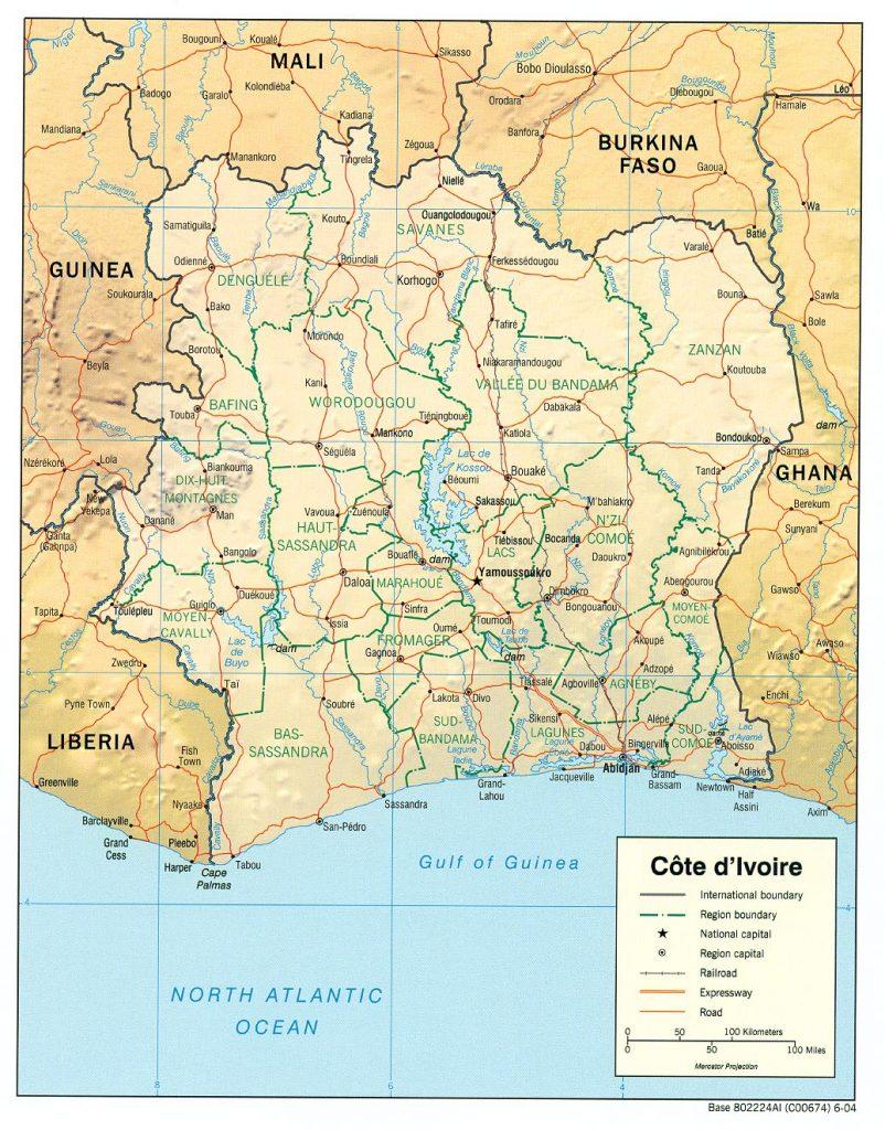 Carte Côte d'Ivoire